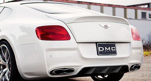 Вид сзади Bentley Continental GT