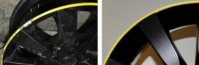 Локальная покраска литых и кованых дисков