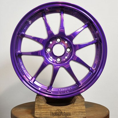 Порошковая покраска дисков Sakura Wheels R17 от Hyundai Solaris в фиолетовый candy